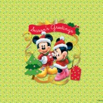 Mickey and Minnie Christmas Wishes Wallpaper