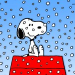 A Snoopy Christmas Cartoon Wallpaper