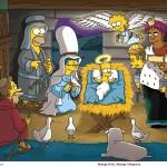 The Simpsons Nativity Scene Christmas Wallpaper