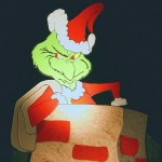 The Grinch in the Chimney Christmas Wallpaper