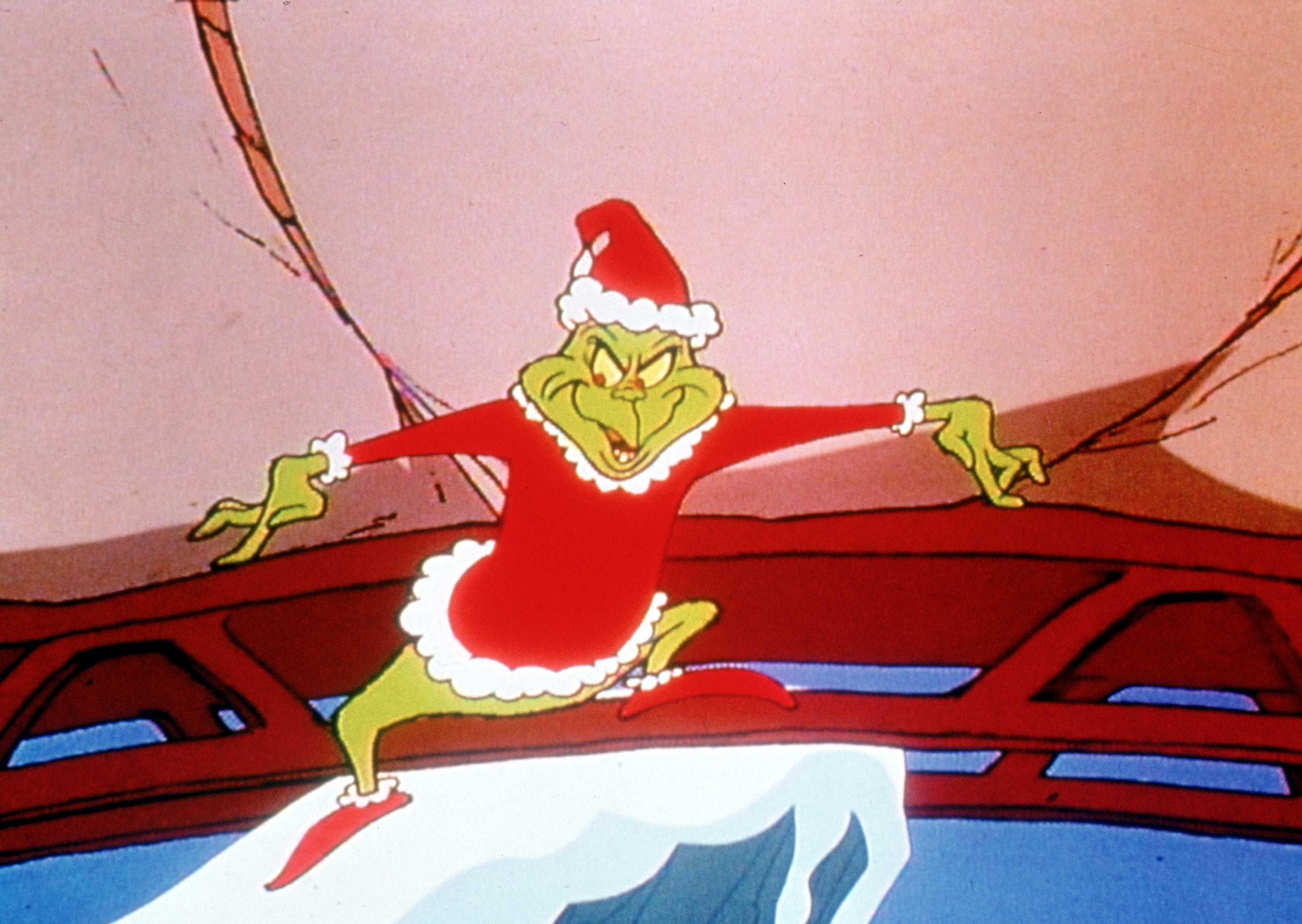 Grinch Stealing Toys Christmas Wallpaper
