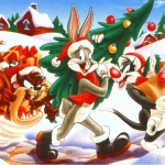 Bugs Bunny, Sylvester, and Tax Collecting Presents and the Tree Wallpaper