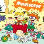 Rugrats Babies Unwrapping Presents Christmas Wallpaper
