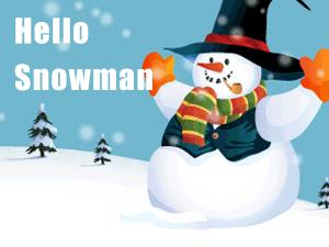Hello Snowman Christmas WordPress Theme