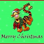 Tigger Wishes you a Merry Christmas Wallpaper