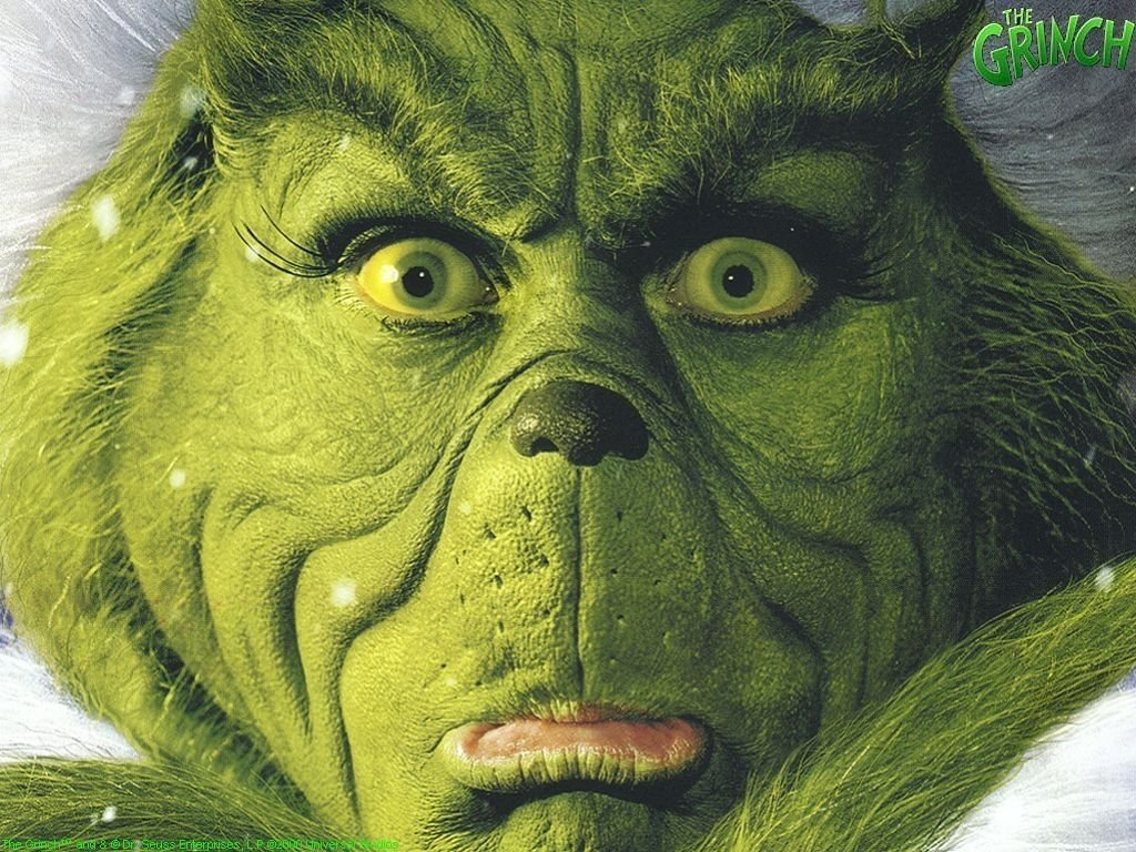 The Grinch Face Christmas Wallpaper – Christmas Cartoons