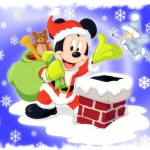 Mickey Mouse Santa Christmas Wallpaper